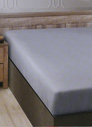 Boyner Evde Boyner Evde 160 x 240 cm  Tek Kişilik Gri Düz Çarşaf Gri